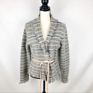 🎁Banana Republic Wool Blend Fringe Cardigan